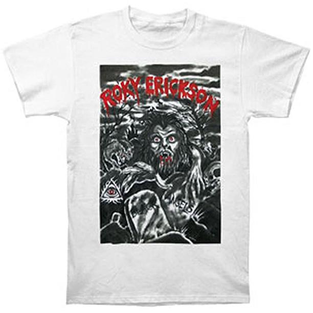 Roky Erickson- Horror on a white ringspun cotton shirt (Sale price!)