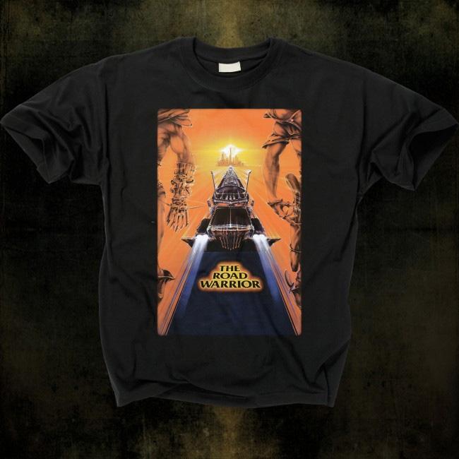 Road Warrior- Interceptor on a black shirt