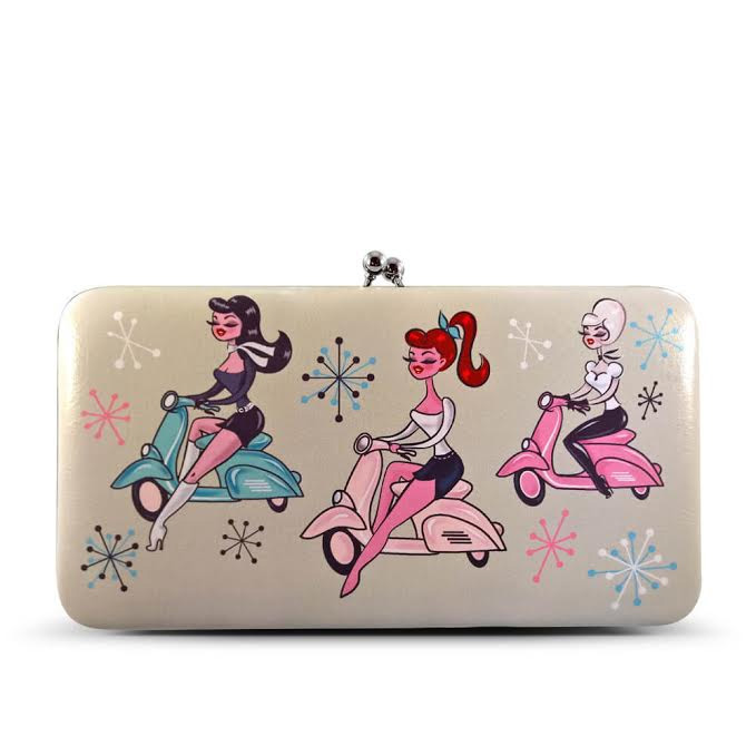 Scooter Girls Kiss Lock Wallet  by Fluff