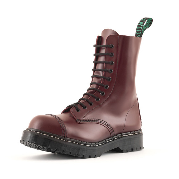 Englander 11 Eye Steel Toe Boot in OXBLOOD by Solovair (Made In England!)
