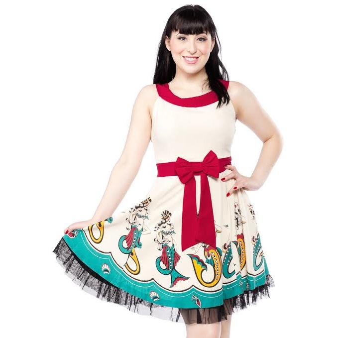 Mermaids Dance Dress by Sourpuss - SALE sz S only