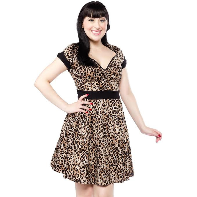 Dollface Leopard Dress by Sourpuss - SALE sz S only