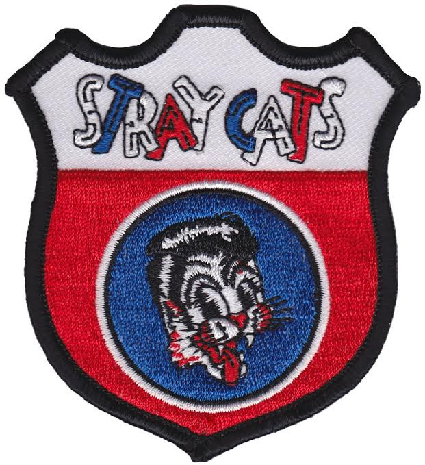 Stray Cats- Red White & Blue Sheild embroidered patch by Sourpuss (ep557)