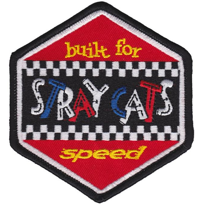 Stray Cats- Built For Speed embroidered patch by Sourpuss (ep560)
