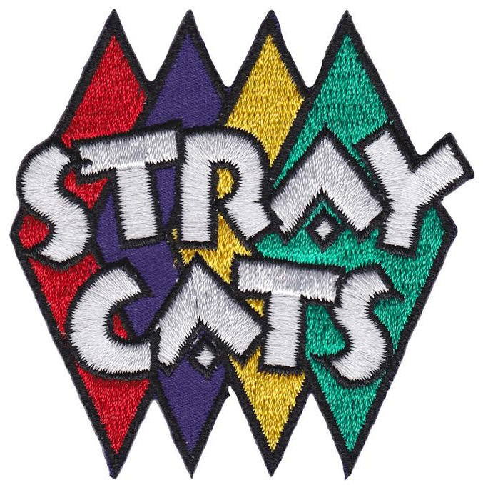Stray Cats- Diamonds embroidered patch by Sourpuss (ep561)