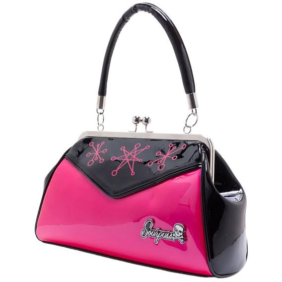 Backseat Baby Kisslock Sputnik Starburst Purse in PINK by Sourpuss - SALE