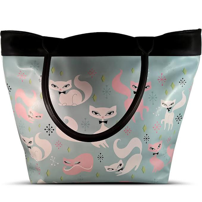 Swanky Kittens Vinyl Tote Bag by Fluff