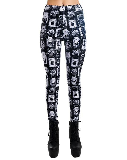 Speciman Jars Lexy Leggings by Too Fast Clothing - SALE sz M only