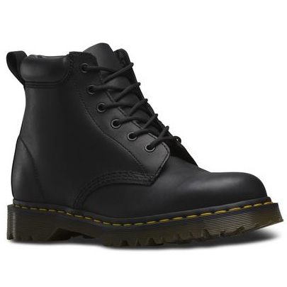 6 Eye Padded Collar Black Greasy Dr. Martens Boots (Sale price!)