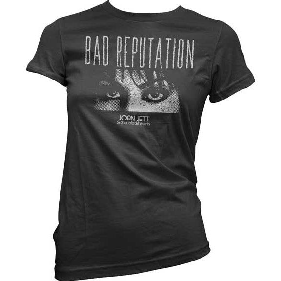 Joan Jett & The Blackhearts- Bad Reputation on a black girls fitted shirt