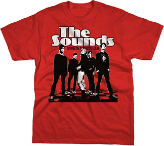 Sounds- Band Pic on a red YOUTH SIZED shirt (Sale price!)