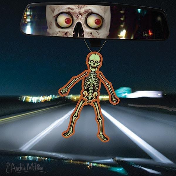 Glow In The Dark Jointed Skeleton Air Freshener