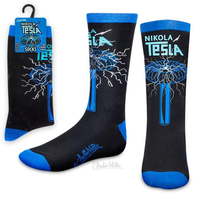 Nikola Tesla Socks