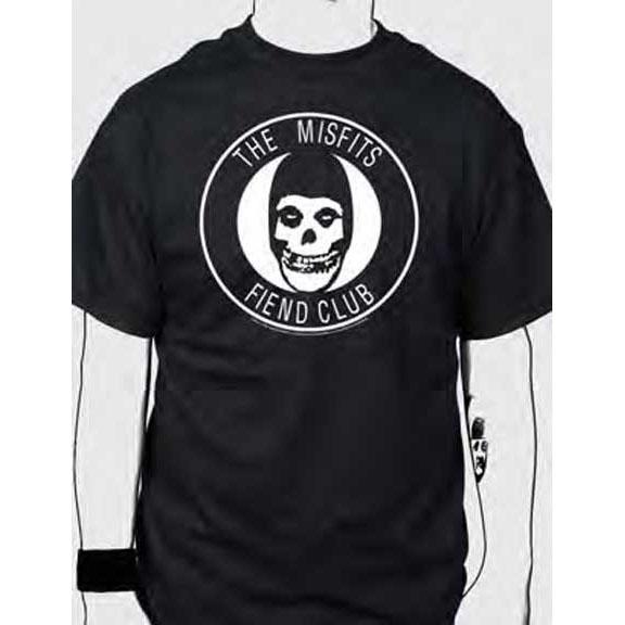 Misfits- Fiend Club on a black shirt