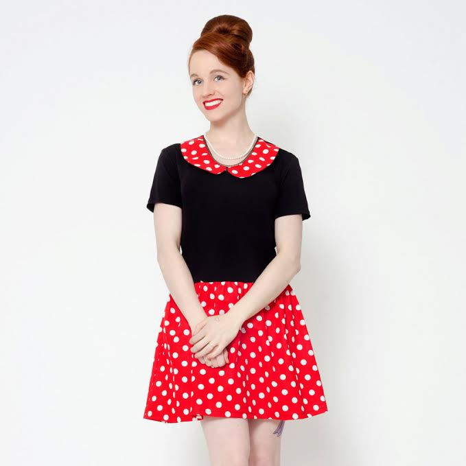 Pop Life Mod Dress by Putre-Fashion - in Black & Red Polka Dot - SALE