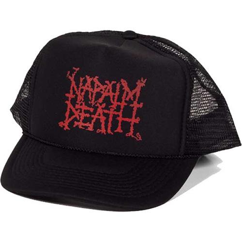 Napalm Death- Logo on a black trucker hat
