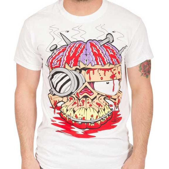 Gwar- Brains on a white shirt (Sale price!)