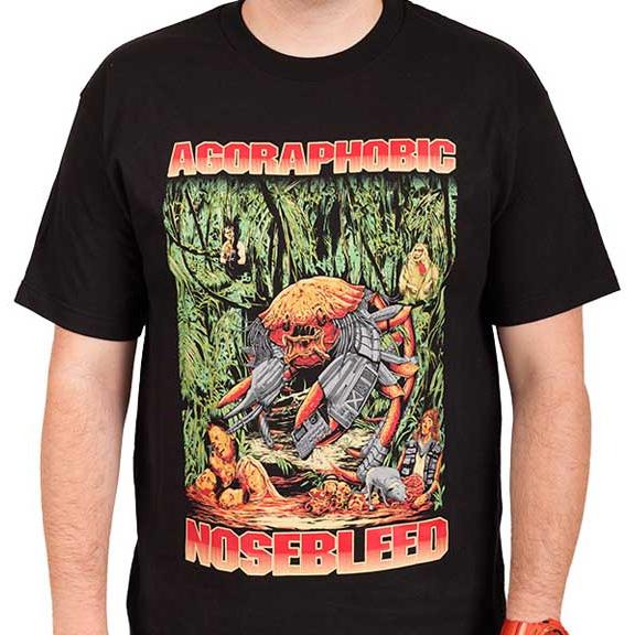 Agoraphobic Nosebleed- Predacrab on a black shirt