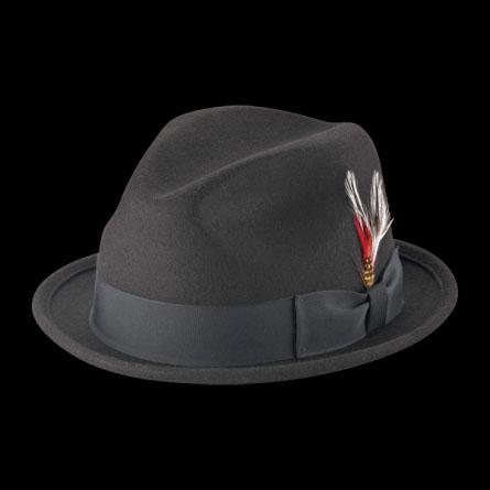 Felt Slim Fedora in BLACK by New York Hat Co.