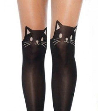 86948d9c3c5 Black Cat Faux Thigh High Pantyhose. »
