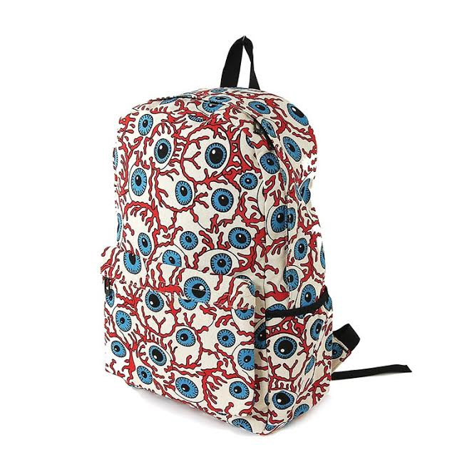 Bloody Eyeballs Backpack Bag by Comeco