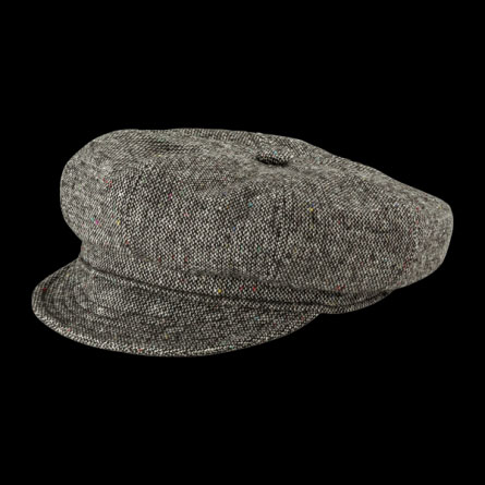 Tweed Spitfire Hat in GREY by New York Hat Co. (Sale price!)