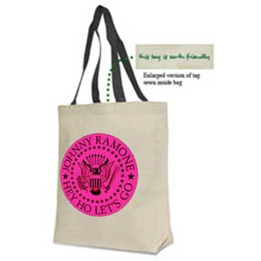 Johnny Ramone- Hey Ho Let's Go Seal tote bag (Sale price!)