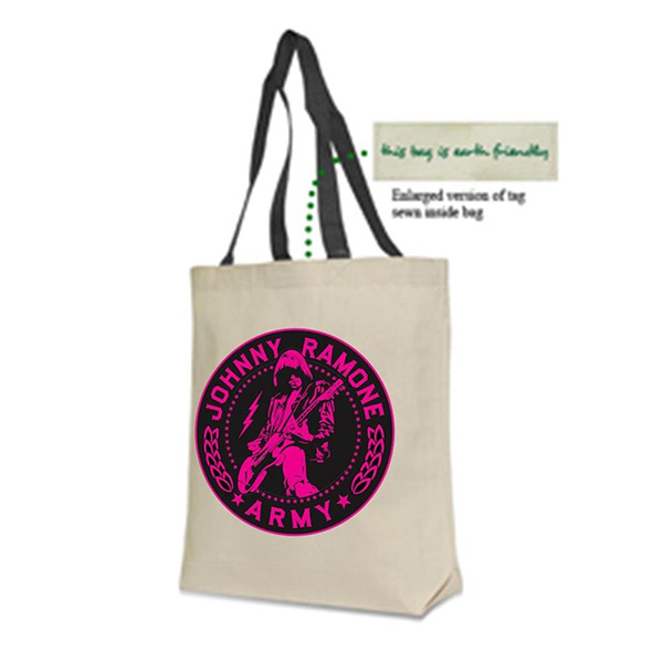 Johnny Ramone- Army tote bag