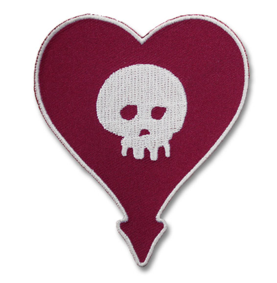 Alkaline Trio- Heartskull embroidered patch (ep593)