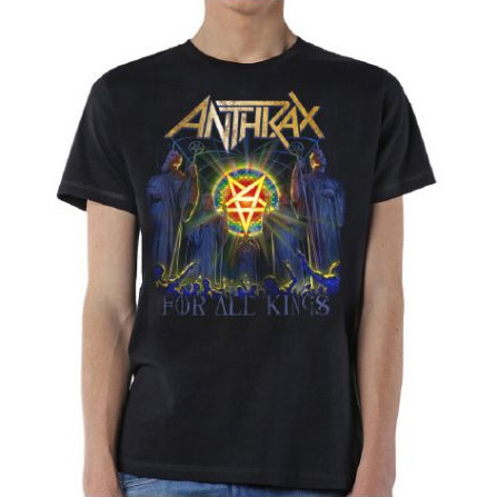 Anthrax- For All The Kings (Stained Glass Pentagram) on a black shirt