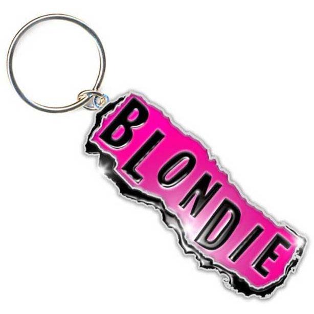 Blondie- Logo Metal Keychain