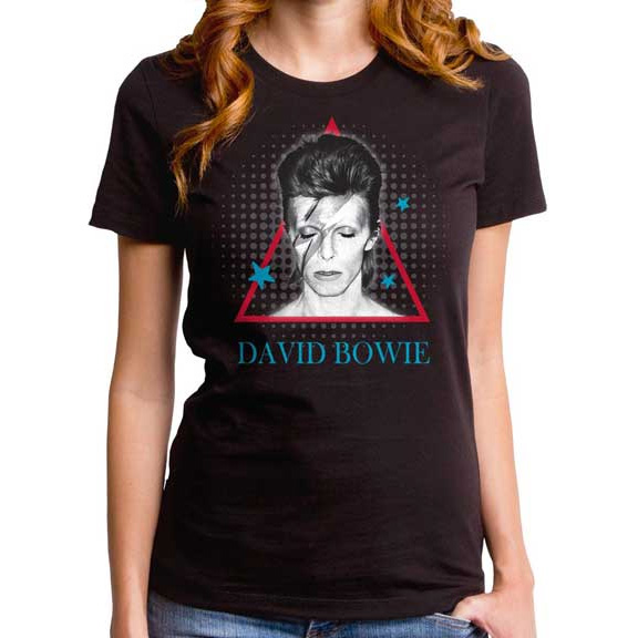 David Bowie- Aladdin Pyramid on a black girls fitted shirt by Goodie Two Sleeves (Sale price!)