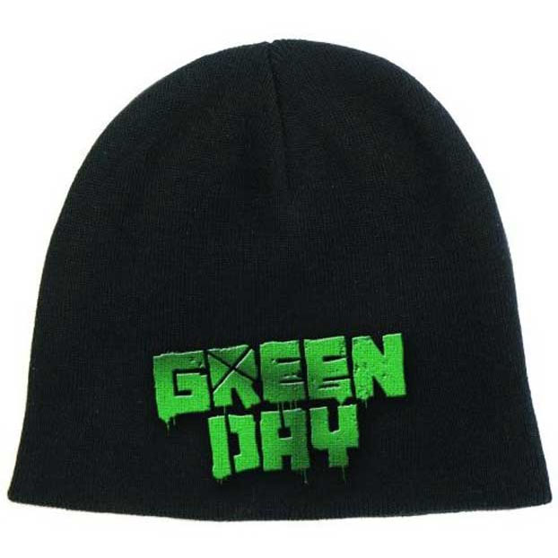 Green Day- Logo on a black beanie