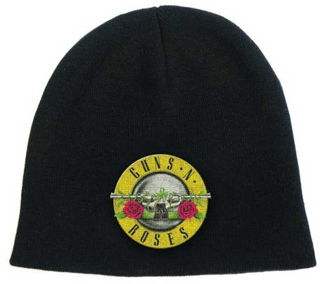 Guns N Roses- Bullet/Logo on a black beanie