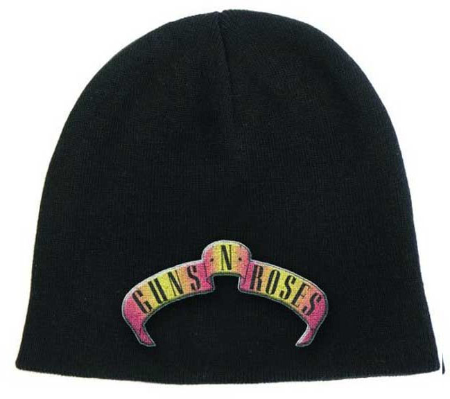 Guns N Roses- Banner Logo on a black beanie