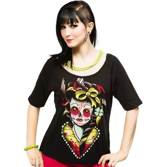 Ladies Lucky Lucy A Line Raglan Shirt by Iron Fist  - SALE sz L only