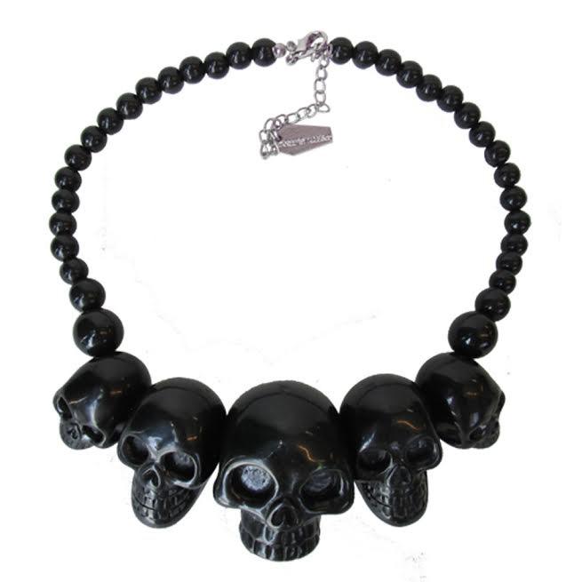 Skull Collection Necklace by Kreepsville 666 - Black