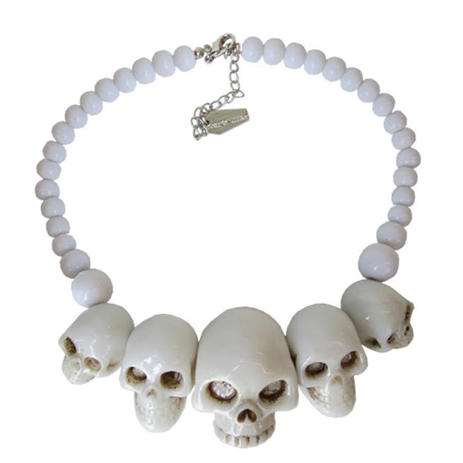 Skull Collection Necklace by Kreepsville 666 - White