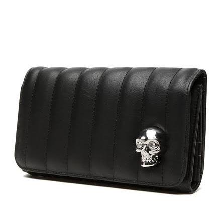 Lady Vamp Wallet by Lux De Ville - MATTE BLACK