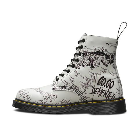 8 Eye Demented Are Go (Go, Go Demented) Dr. Martens Boots (Sale price!)