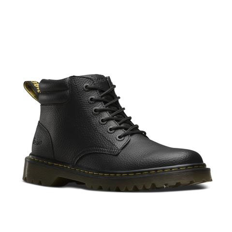 Faron 6 Eye Black Action Grainy Padded Collar Dr. Martens Boot (Sale price!)
