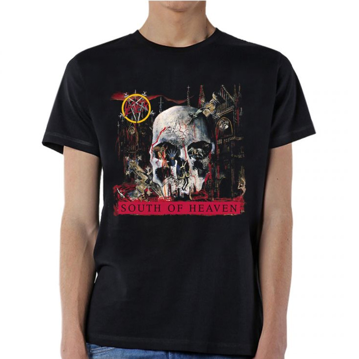 Slayer- South Of Heaven on a black shirt