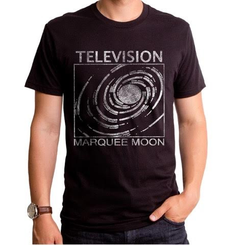 Television- Marquee Moon on a black ringspun cotton shirt by Goodie Two Sleeves (Sale price!)