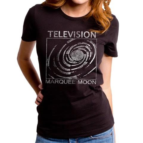 Television- Marquee Moon on a black girls fitted shirt by Goodie Two Sleeves (Sale price!)