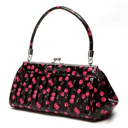 Very Cherry Kisslock Bag by Lux De Ville