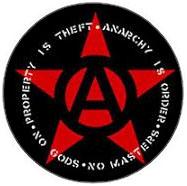 Anarchy, No Gods No Masters pin (pinA630)