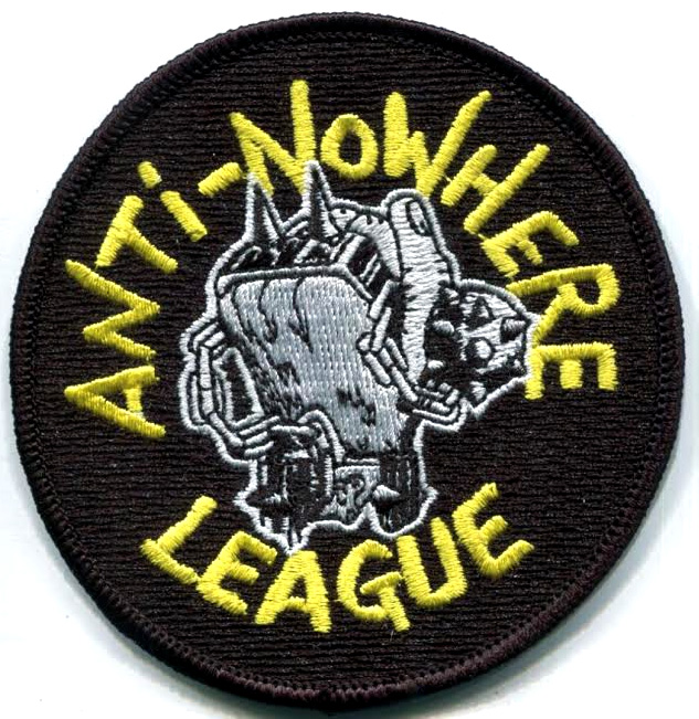 Anti Nowhere League- Spiked Fist embroidered patch