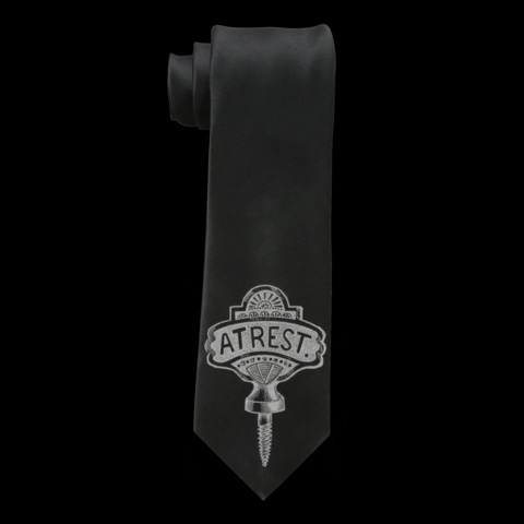 At Rest Tie by Se7en Deadly - in Black