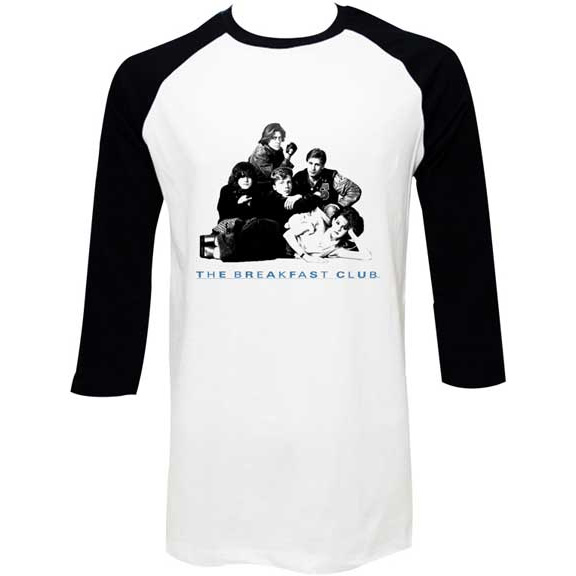 Breakfast Club- Group Pic on a white/black 3/4 sleeve shirt (Sale price!)