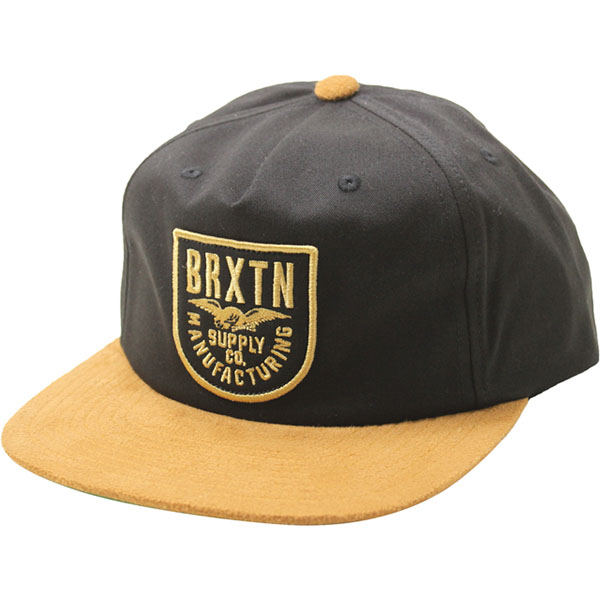 Alliance Snap Back Hat by Brixton- BLACK / COPPER (Sale price!)